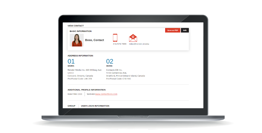 Contact Boss contact management software